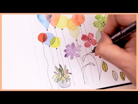 Watercolor Doodle Ideas For Beginners Art Journal Thursday Ep 8