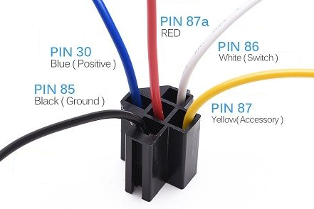 Automotive 5 Pin Relay Common Wire Colors Automotive Care Automotive Mechanic Automotive Repair