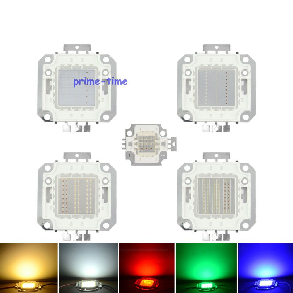Epiled 10w 20w 30w 50w 100w Watt Rgb Led Chip Lamp High Power Led Lighting Source High Quality High Power Led Lights Light Accessories Power Led
