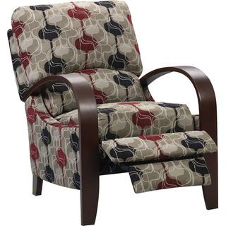 Aaron Reclining Fabric Accent Chair Lava Fabric Accent Chair