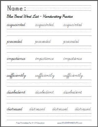 16++ 5th grade handwriting worksheets Popular