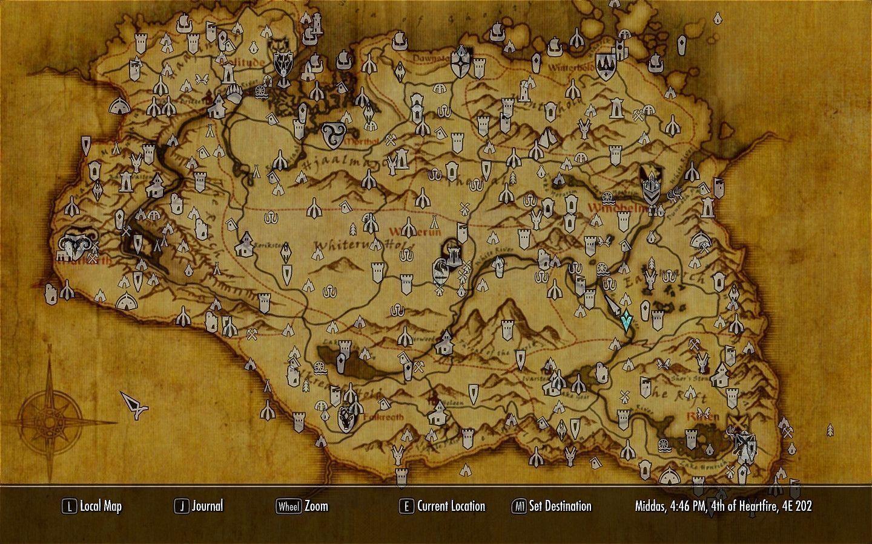 Skyrim Full Map Skyrim Full Map   Viewing Gallery | Skyrim | Map wallpaper, Skyrim