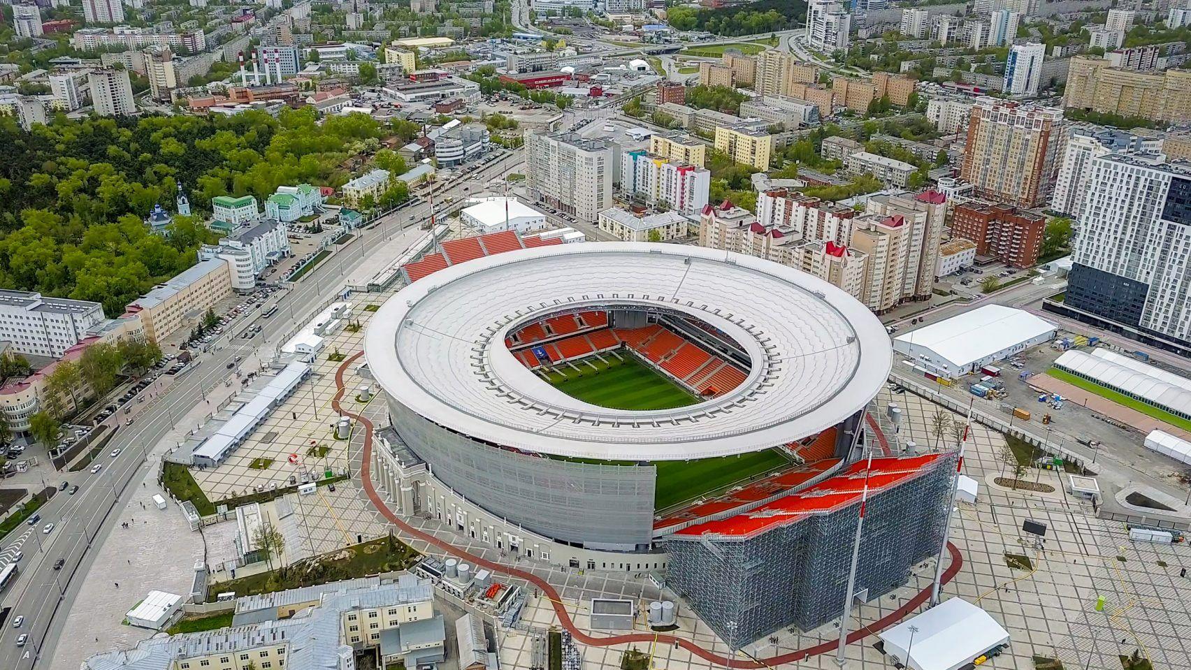 Ekaterinburg Arena Aka Central Stadium Ekaterinburg Russia World Cup Stadiums Stadium Stadium Design