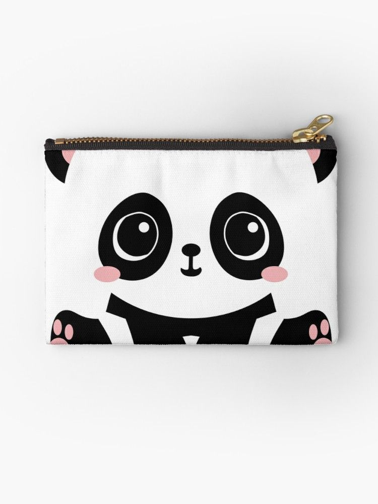 Cute Panda Also Buy This Artwork On Bags Apparel Stickers And More Cute Panda Cute Pouch