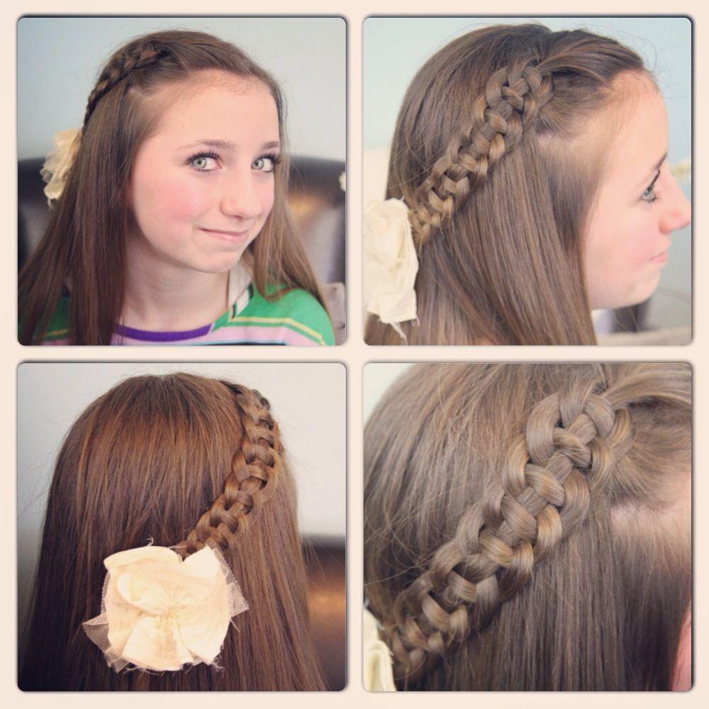 Strand slide up braid cute girls hairstyles little girl