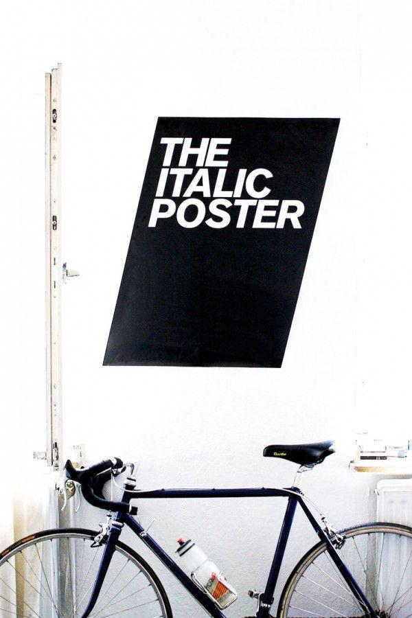 italic poster