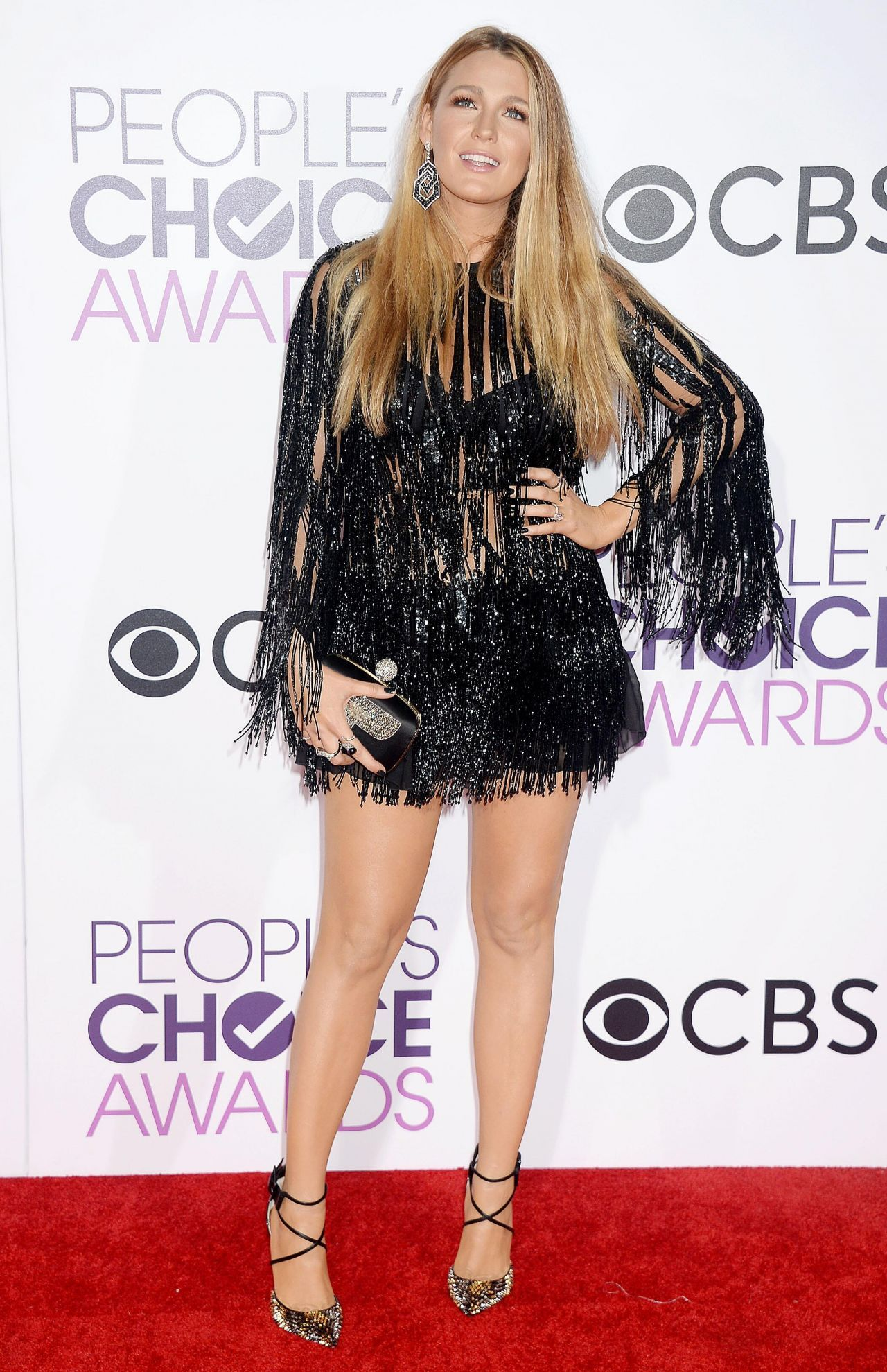 Blake Lively in Elie Saab at 2017 People's Choice Awards in Los Angeles