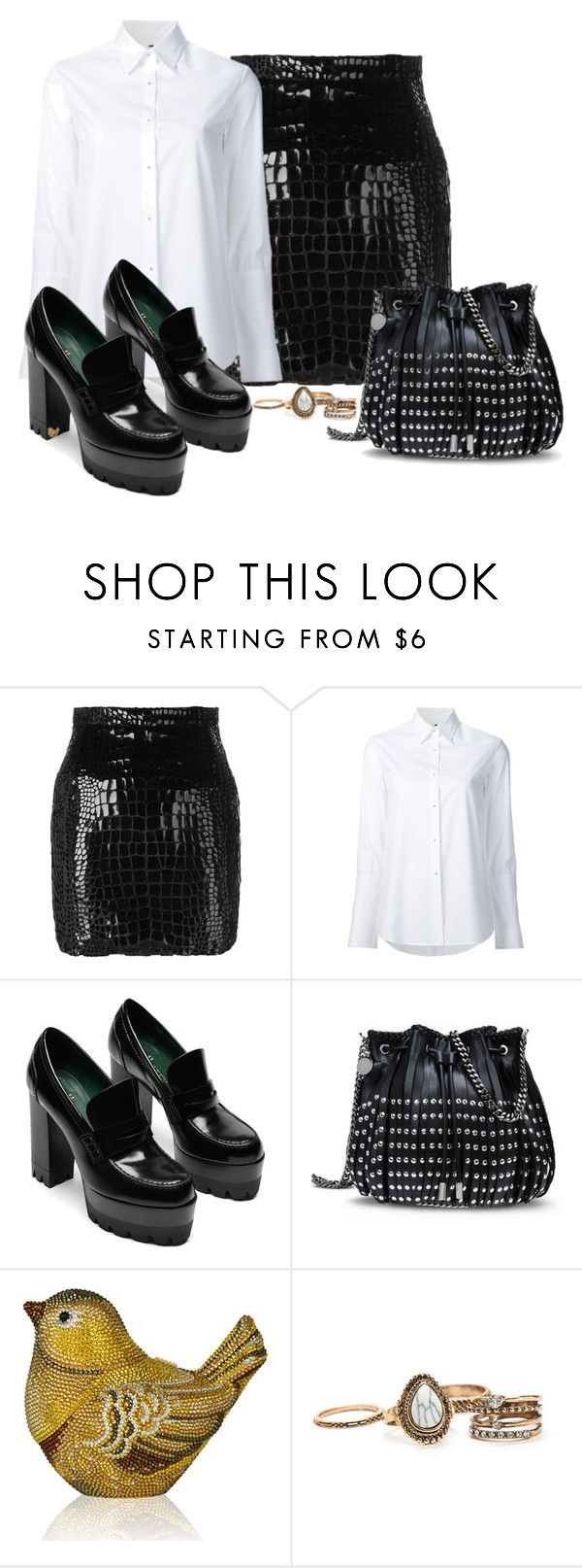 """""""Untitled #1871"""" by cardigurl ❤ liked on Polyvore featuring Yves Saint Laurent, Misha Nonoo, STELLA McCARTNEY and Judith Leiber"""
