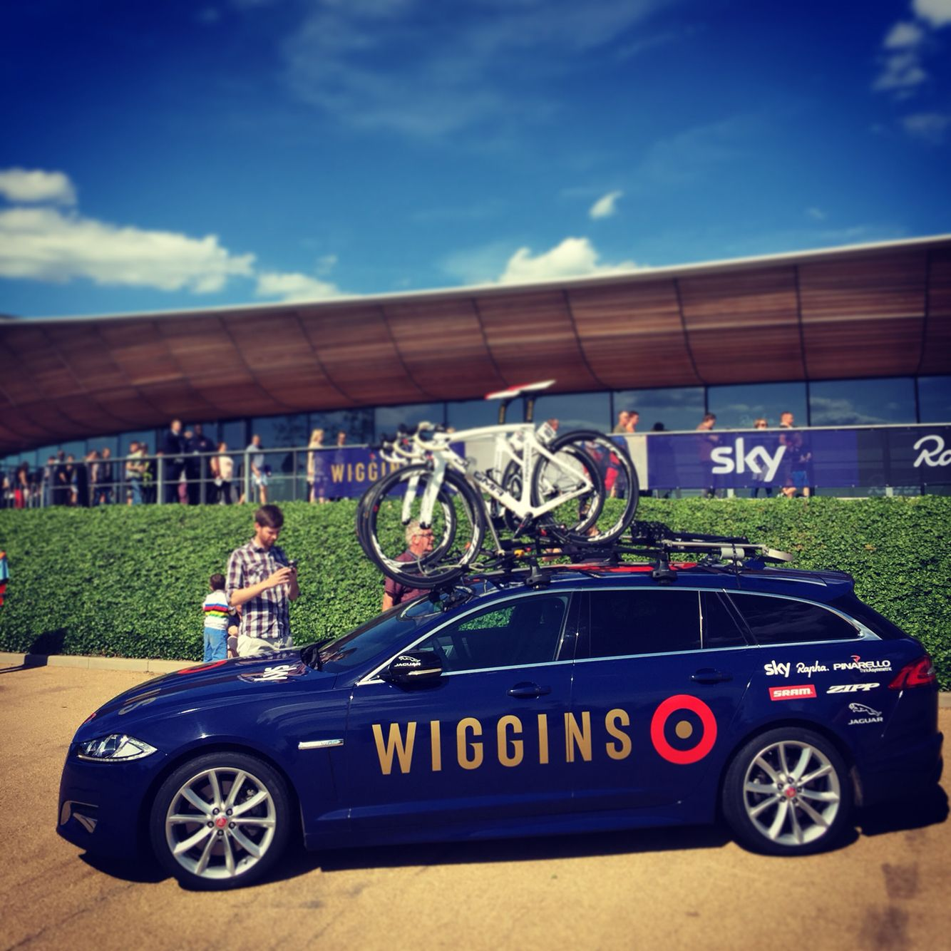 Bradley Wiggins' personal brand. Nice. Look closely at the 'G'