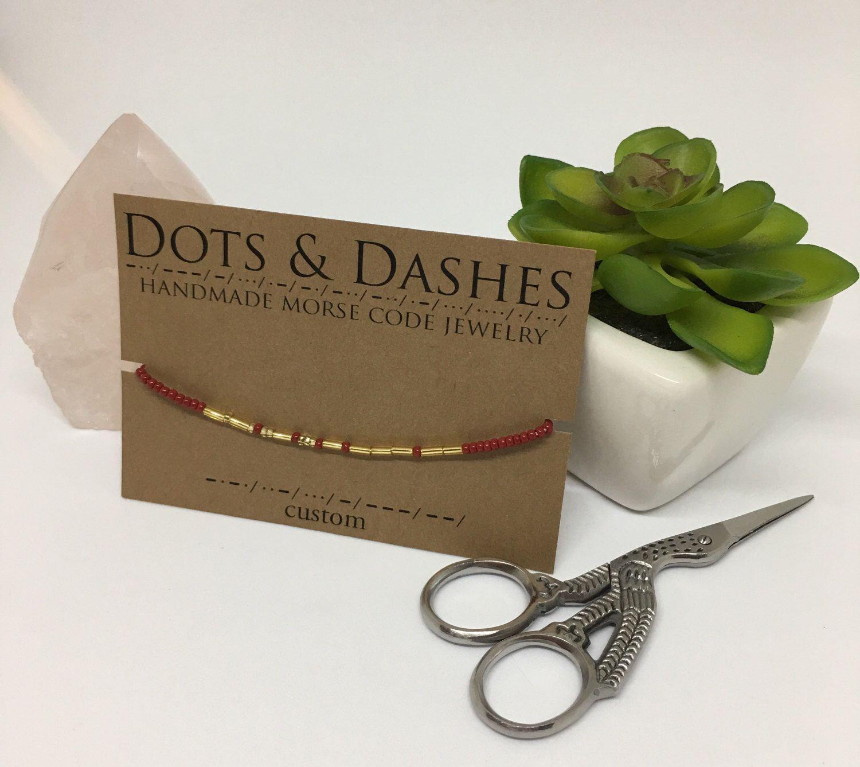Custom morse code bracelet custom bracelet custom