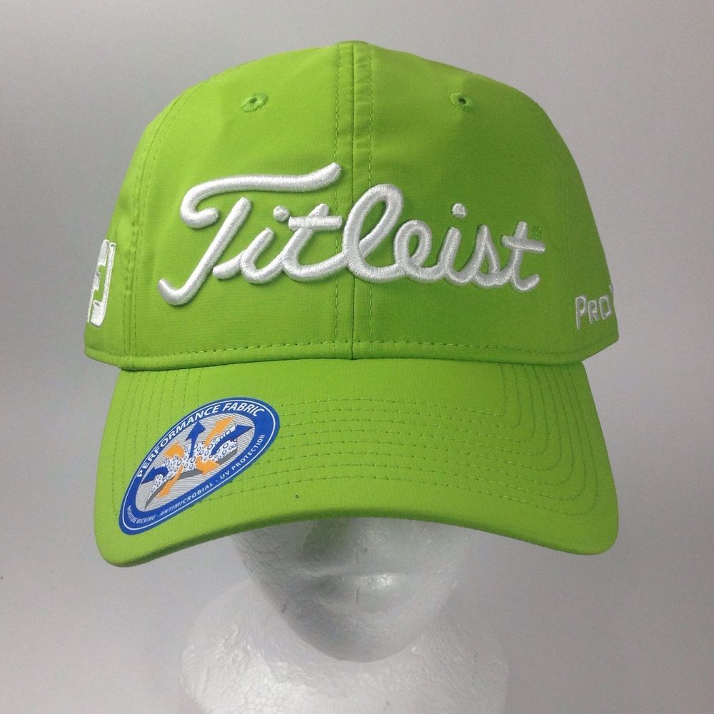 ef4f1ee8817 2016 Green Titleist Pro V1 FJ Tour Performance Fashion Golf Flex Fit Hat Cap  NWT  Titleist  BaseballCap