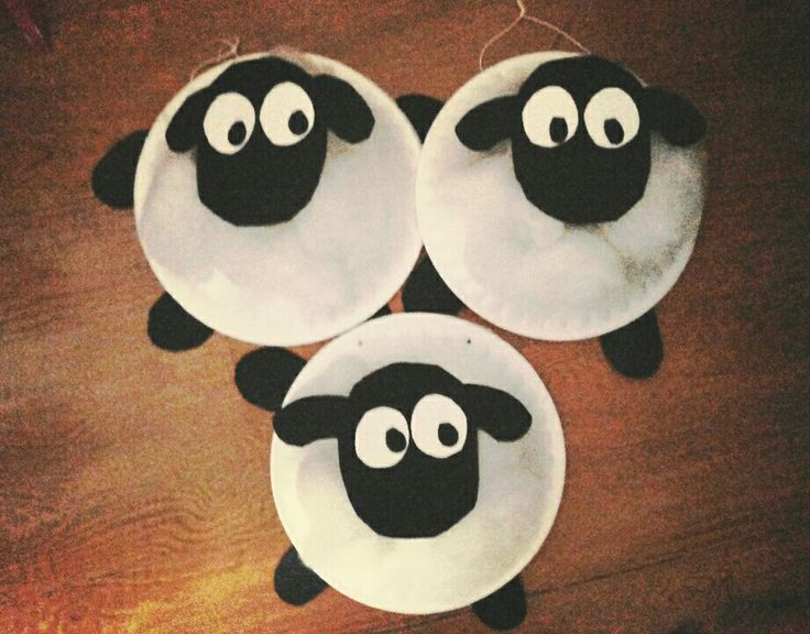 Arts And Crafts Ideas For Kids With Paper Part - 30: Shaun The Sheep Fiber Paper Plate Art Crafts Kids Diy Art