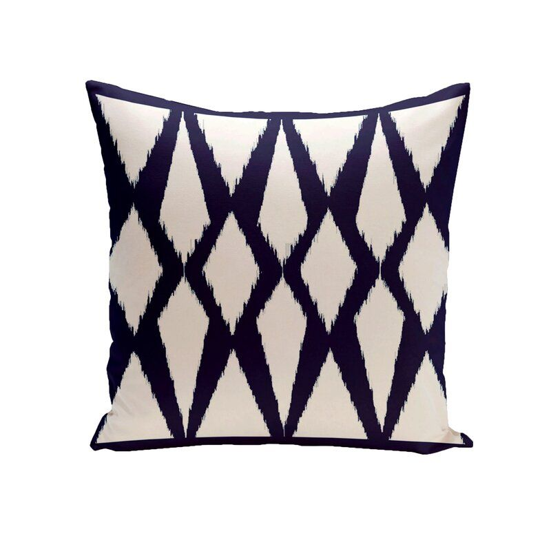 Sol 72 Outdoor Cristian Geometric Decorative Indoor Outdoor Ikat Throw Pillow Ad Sponsored Spon Cri Outdoor Pillows Throw Pillows Outdoor Pillow Covers