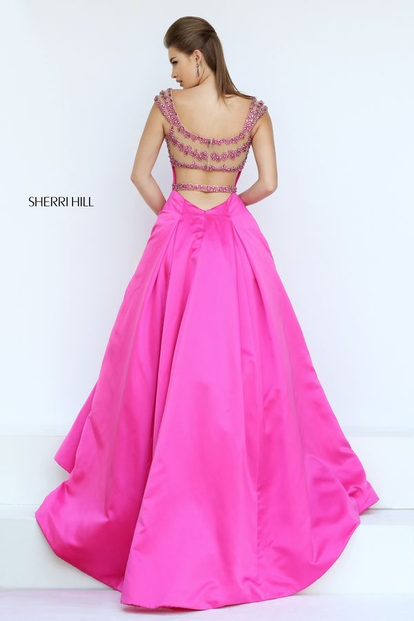 0c9aa7ef819 Fashion Cap Sleeves Beaded Sheer Strappy Back Royal Evening Dress. Sherri  Hill 50229