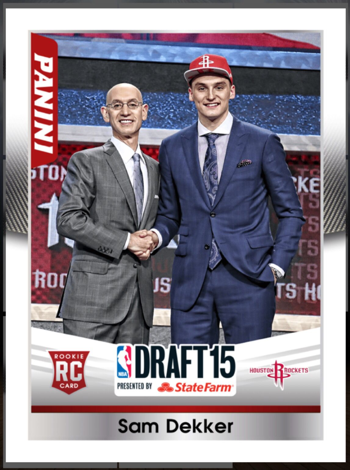 sam dekker rookie houston rockets draft insert card  paninis