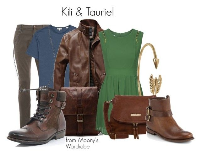 """""""Kili & Tauriel"""" by evalupin ❤ liked on Polyvore"""