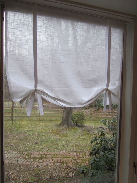Swoon Style And Home: DIY Tutorial: Make Your Own No Sew Drape Shade  Curtains (With Burlap U0026 Ribbon For Kitchen Window, Perhaps?
