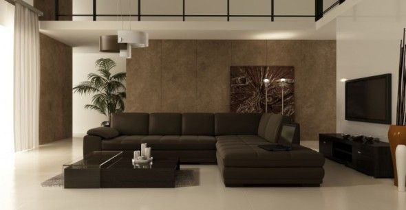 Modern Living Room Brown Sofa White Tile  Bedroom & Living Room Brilliant Brown Sofas In Living Rooms 2018