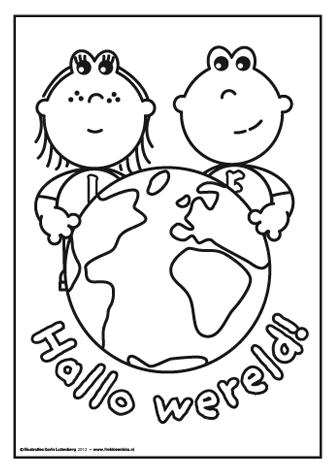 frokkie en lola hallo wereld een kleurplaat met frokkie en