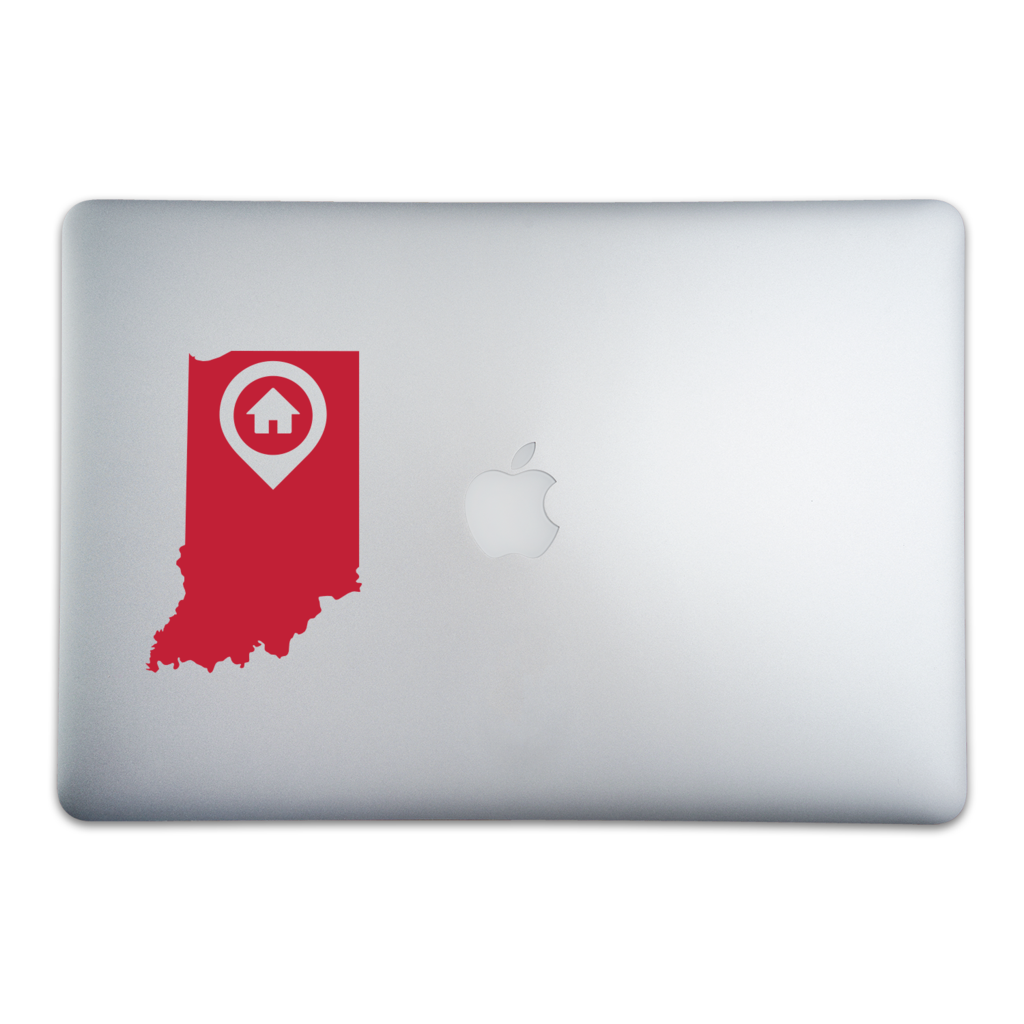 Indianapolis is home to more than the indy 500 it might just be where you hang your hat if its your hometown than this 5 by 3 4 inch sticker is