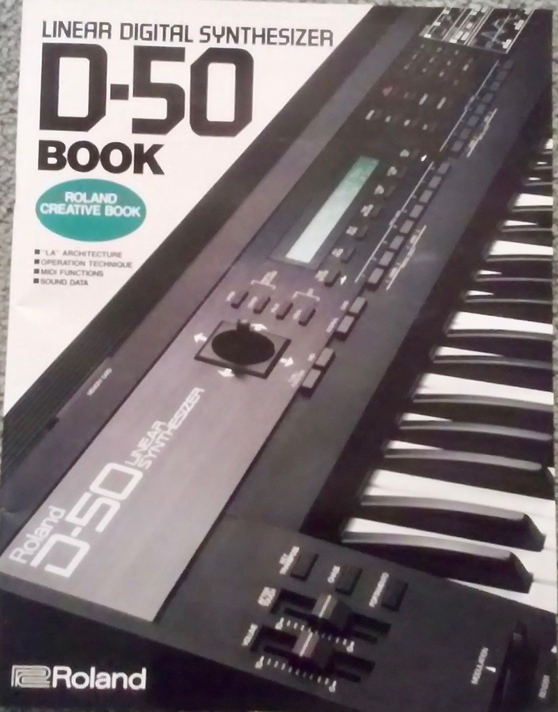 Roland D50 Synthesizer Roland Creative Book (1988) VINTAGE