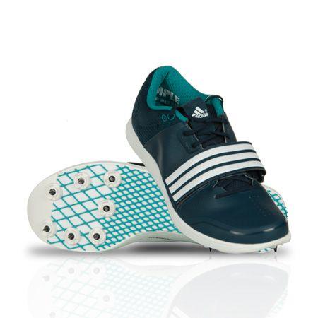 adidas Adizero Pole Vault Triple Jump Spikes Black White Field Event Shoes PV TJ
