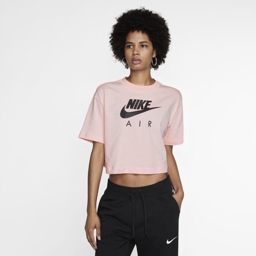 Nike Air Women S Short Sleeve Top Size S Echo Pink Nike Air Women Womens Shorts Women [ 1080 x 1080 Pixel ]