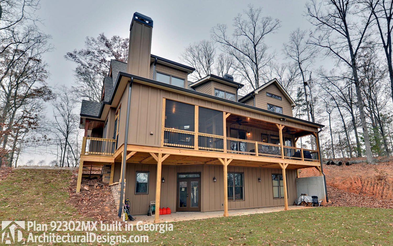 Plan 92302MX: Rustic Cottage | Rustic house plans, Porch house plans,  Rustic cottage