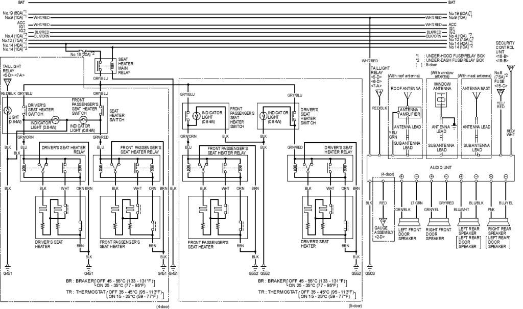 wiring diagram 1996 honda accord harness door arresting