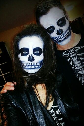 my skeleton couple makeup so much fun my creations pinterest maquillage halloween. Black Bedroom Furniture Sets. Home Design Ideas