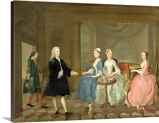 A Family Being Served With Tea C 1740 45 Oil On Canvas Tea History British Art Google Art Project