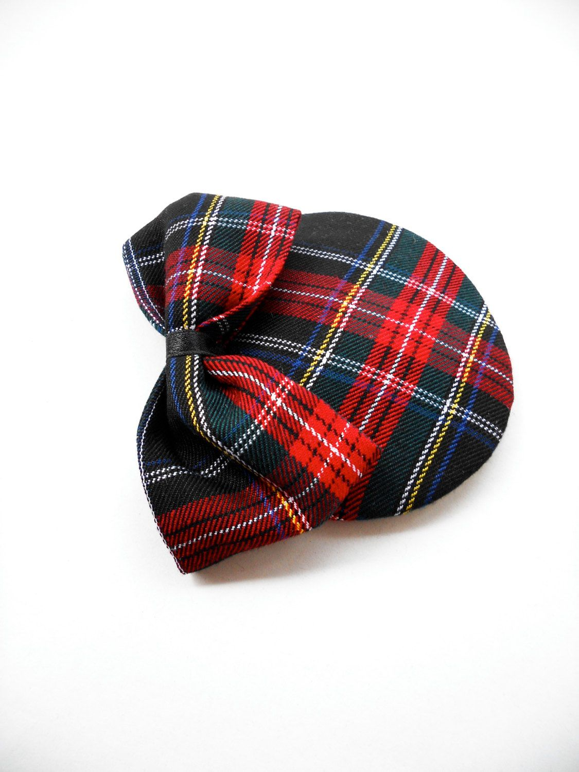 Tartan Plaid Vintage Inspired Pin Up 50s 60s Fascinator with Bow Hair Accessory Steampunk Victorian