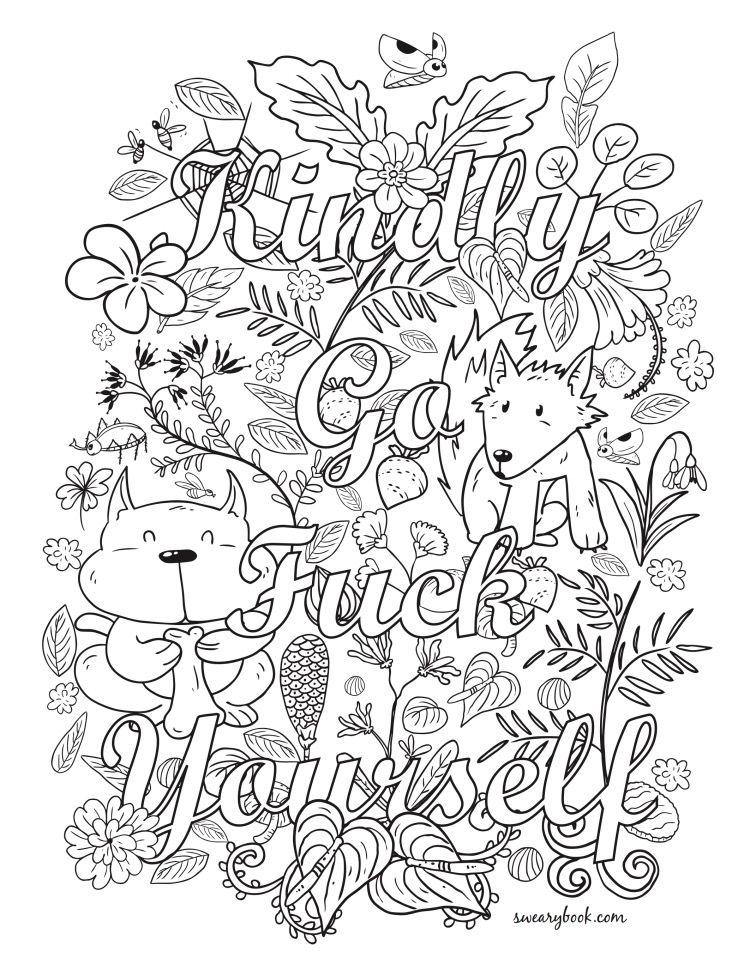 Pin de lyn en new swear word coloring | Pinterest | Caligrafía