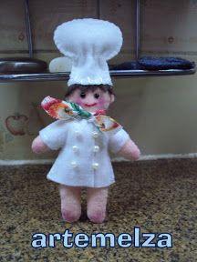 ARTEMELZA - Arte e Artesanato: Imã de geladeira–chef de cozinha