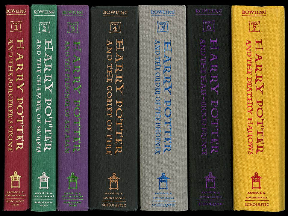 Harry Potter Book Spine Wall Art Museum Outlets Book Spine Book Wall Art Potter