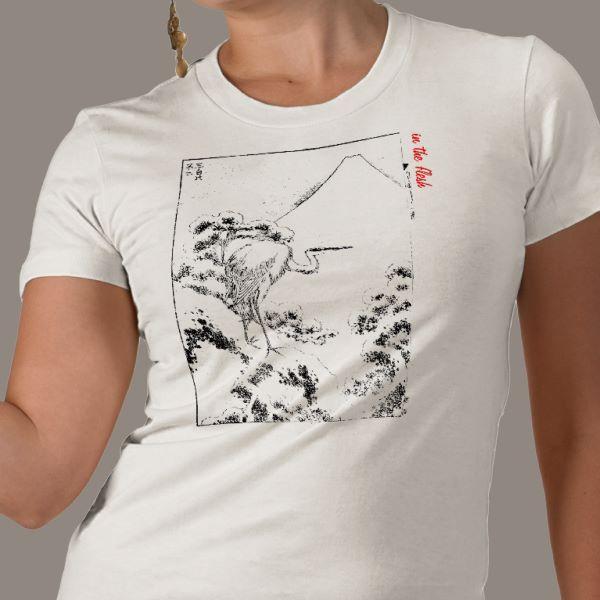 Hokusai heron t-shirt £17 on Zazzle