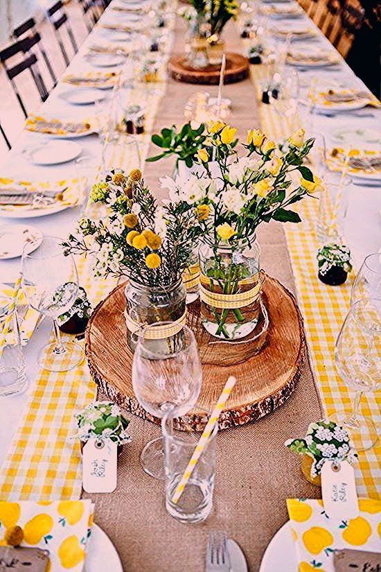 Photo of 13 x 90 Inch Poly Check Table Runner