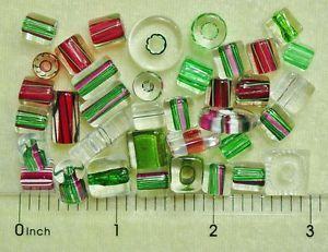 24 David Christensen Assorted Holiday Color Mix USA Cane Furnace Glass Beads