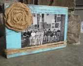 Distressed, vintage, shabby wood picture frame, bridesmaids gifts under 20 dollars