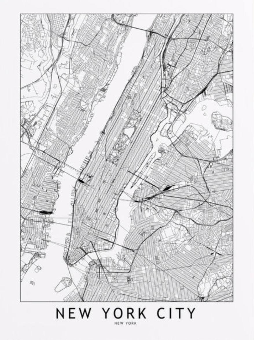 A Simple Map Of New York City Usa In 2019 Map Of New York New