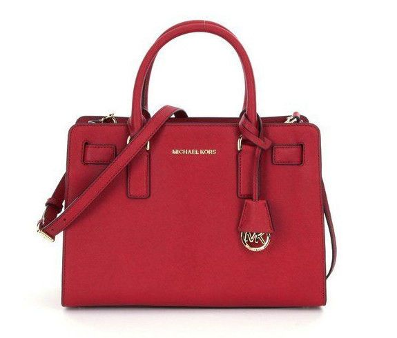 9486655234fe Michael kors dillon saffiano leather cherry ew east west satchel handbag bag  new