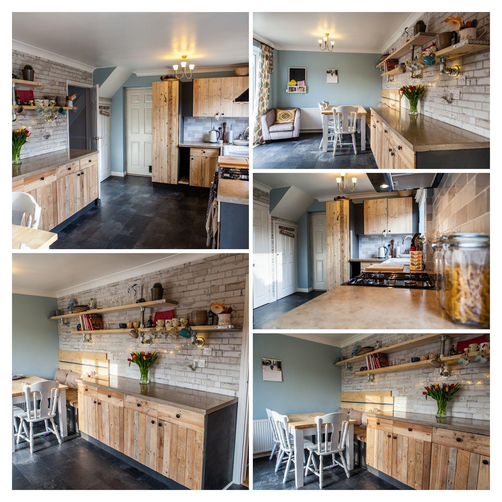 My Hand Built Kitchen: Polished Concrete Worktops, Pallet