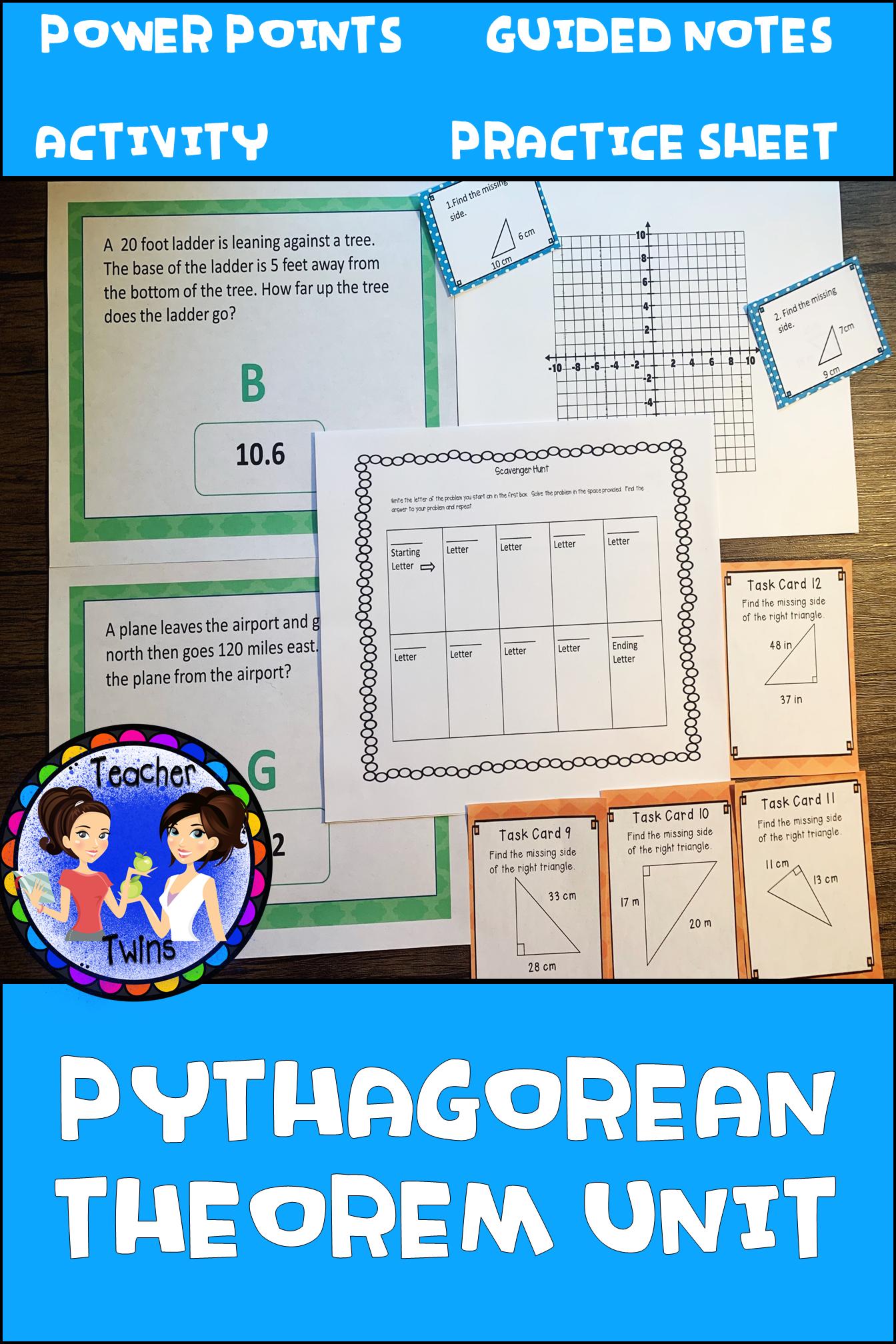 The Pythagorean Theorem Unit Common Core Standards 8 G 6