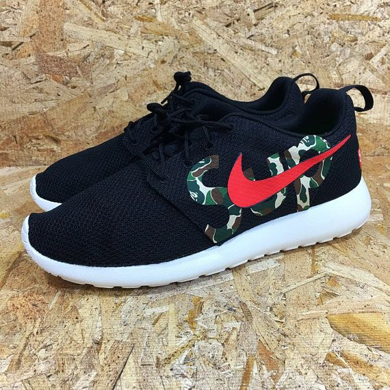 e35cd10fcf690 ... new zealand custom nike roshe run bape x supreme inspired roshes by  pineboys 33994 13699