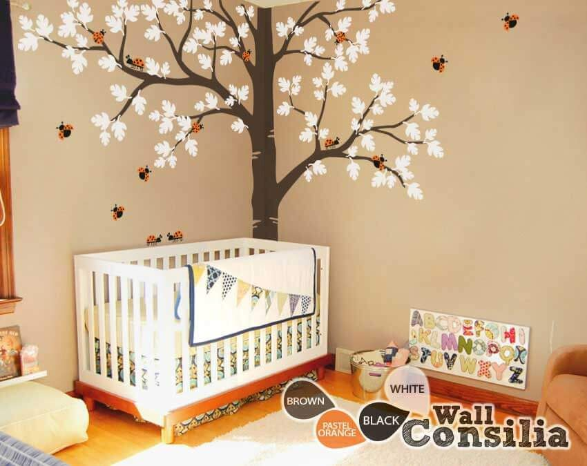 This Baby Nursery Large Oak Tree Wall Decal Suggests That It Is - Wall decals for nursery