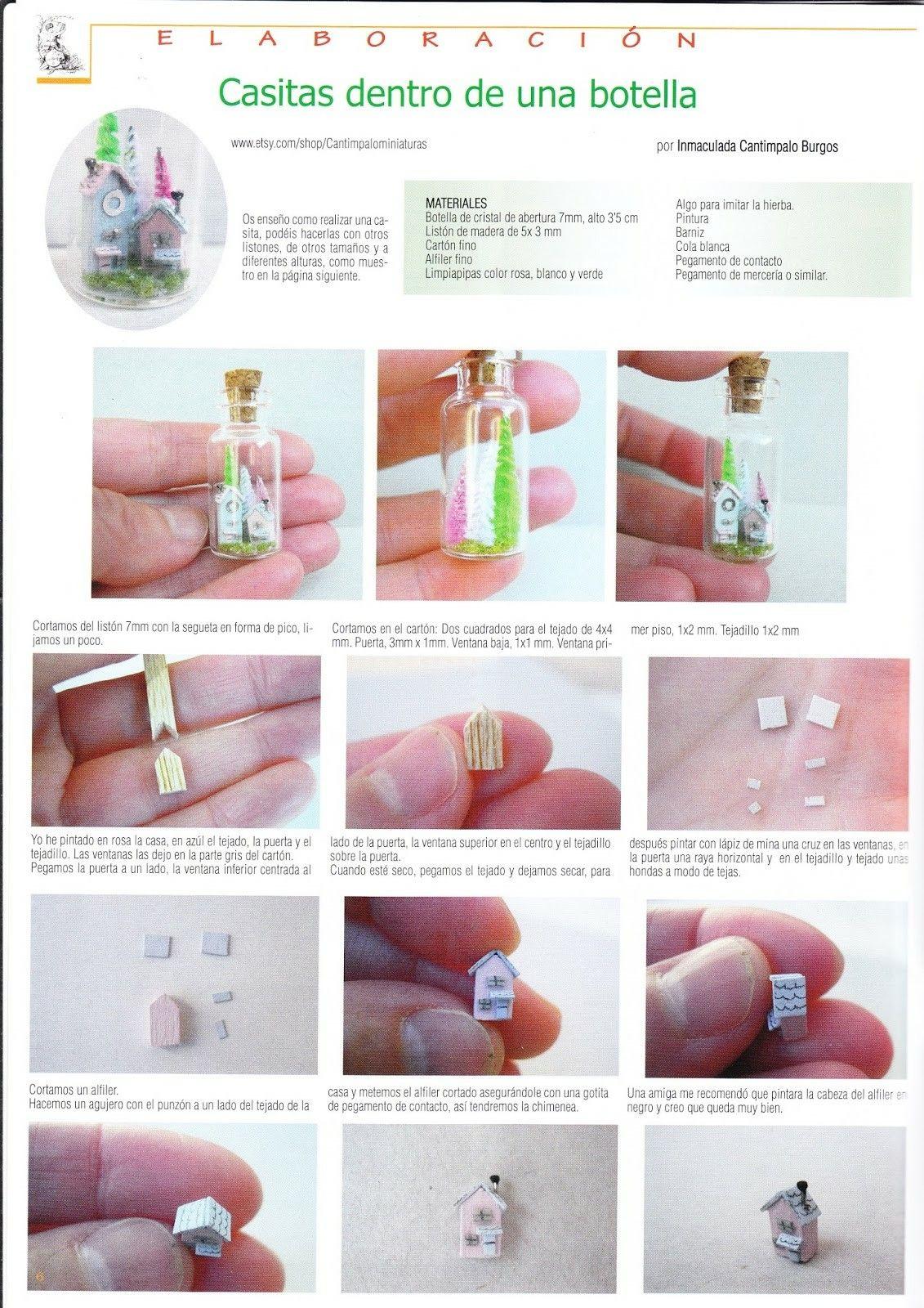 Casitas Dentro De Una Botella N 228 Miniatures Tutorials