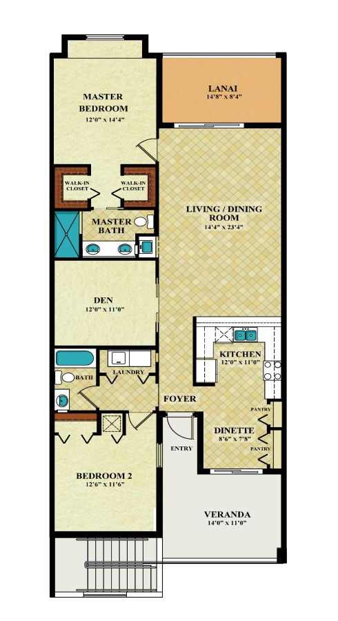 Treviso Bay Bromelia Veranda Plan Lennar Floor Plans