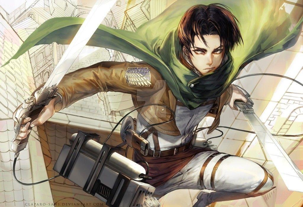 Levi ackerman, attack on titan, fight, anime wallpaper