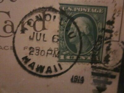 Details About 1914 Cancelled Postcard W 1 Cent George Washington Stamp Green 1912 22 Postage