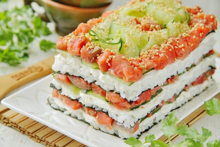 огород был салат суши пошаговый рецепт с фото мускулатурой райана рейнольдса
